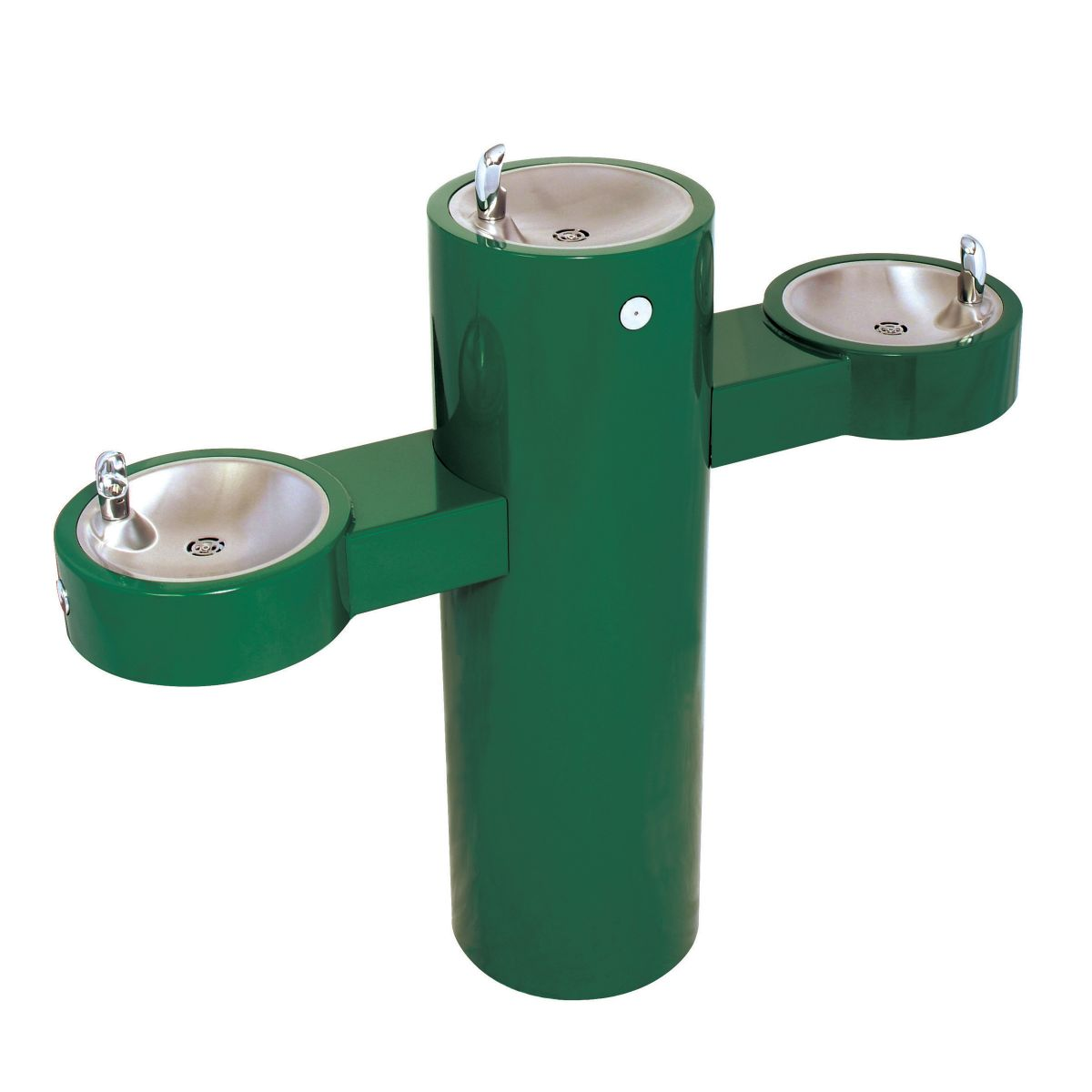 Free Standing Tri-Level Outdoor Drinking Fountain