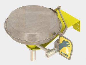 Wall Mounted Eye Wash with Stainless Steel Bowl and Lid image