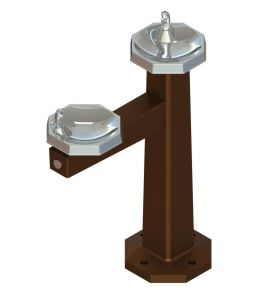 Free Standing Bi-Level Outdoor Drinking Fountain image