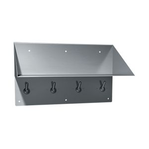 Stainless Steel Book Shelf and Clothes Hooks image