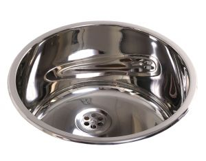 Inset Small Round Dental Sink image