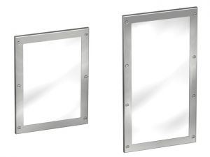 Framed Stainless Steel Mirror  image