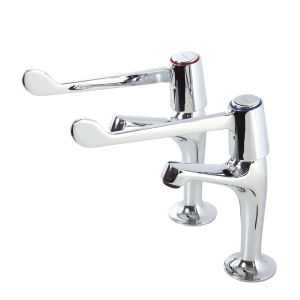 High Neck 6 Inch Lever Operated Sink Taps image