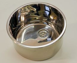 Round Inset Wash Basin with Overflow image