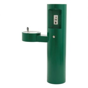 Outdoor Drinking Fountain With Integral Bottle Filler image