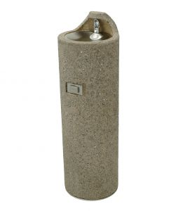 Concrete Free Standing Outdoor Drinking Fountain image
