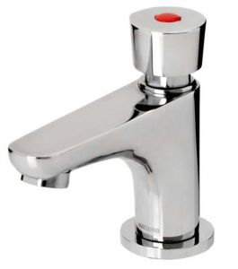 Soft Touch Self Closing Pillar Basin Tap image