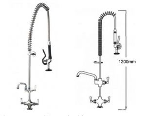 Pre Rinse Monobloc Catering Tap with Pot Filler image