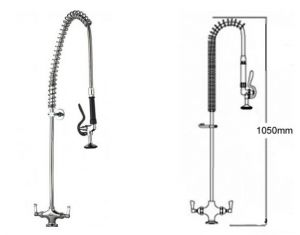 Pre Rinse Monobloc Catering Tap image