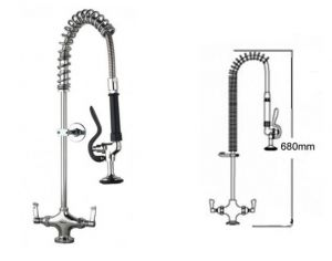 Short Pre Rinse Monobloc Catering Tap image