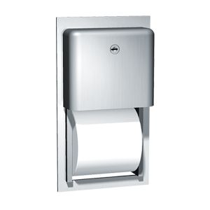 Stainless Steel Recessed Double Toilet Roll Holder image