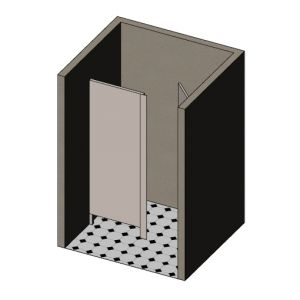 In-Wall Angled Toilet Cubicle image