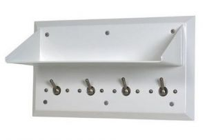 Ligature Resistant Shelf with Coat Hooks image